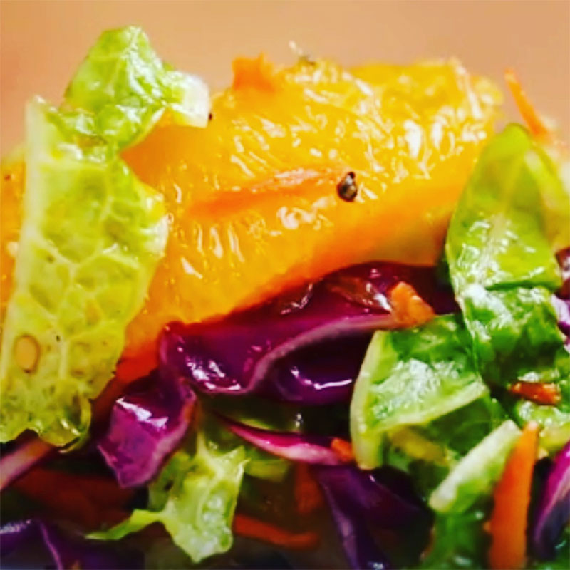 Awesome Toss Glazed Salmon with Orange Slaw (Watch the VIDEO!)