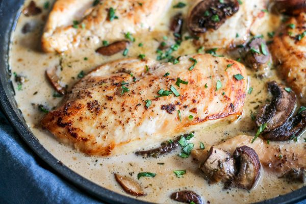 Chicken in Sherry Cream Sauce
