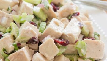 Chopped Game Bird or Chicken Salad with Walnuts