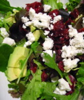 Sweet Cranberry Bacon Green Salad