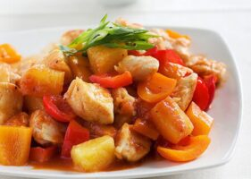 Sweet & Sour Stir Fry with Colorful Veggies & Pineapple
