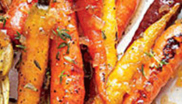 Caramelized Roasted Veggies with Bird Breasts