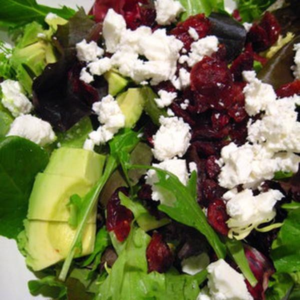 Cranberry Feta Green Salad with Wild Bird or Chicken Breast