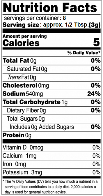 Chic Chick Nutrition Info