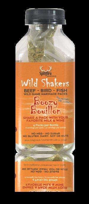 Boozy Bouillon WILD SHAKERS Easy Homemade Marinade (Makes 32 servings)