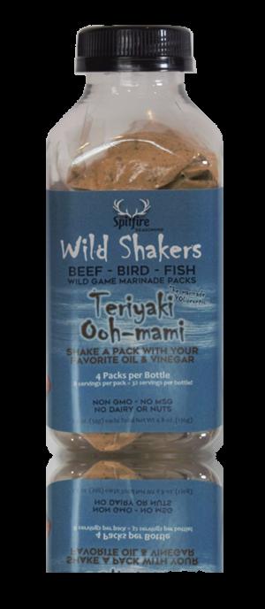 Teriyaki Ooh-mami WILD SHAKERS Easy Homemade Marinade (Makes 32 servings)
