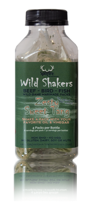 Zesty Sweet Tang WILD SHAKERS Easy Homemade Marinade (Makes 32 servings)